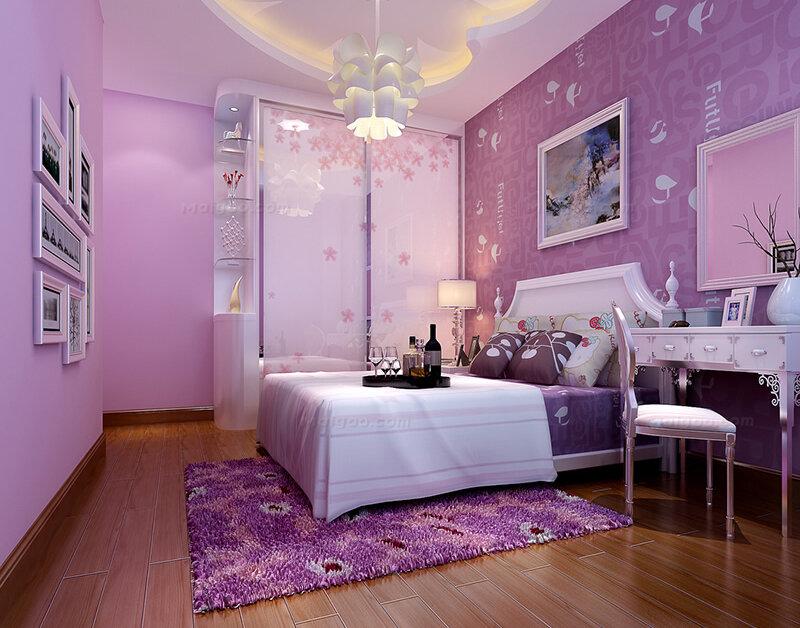 欧式紫色女生卧室梳妆台设计(8/10)图片