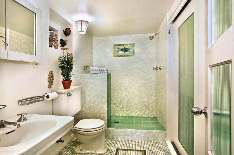 欧式清新风格家庭卫生间马赛克瓷砖背景墙装修图片欣赏(4/10)图片