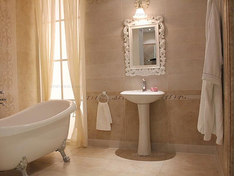 欧式风格家庭卫生间浴缸装修效果图(8)图片