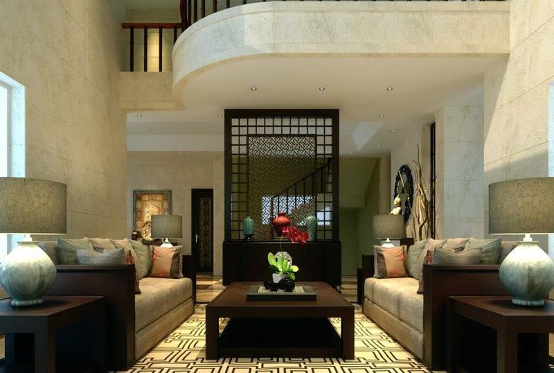 郝建室内设计师作品 碧海庄园中式风格装修效果图