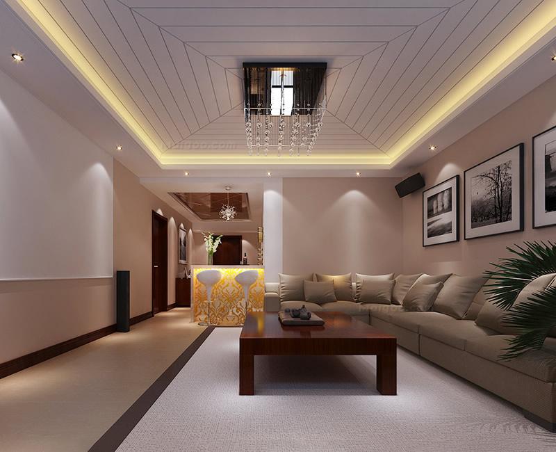 客厅装修吊顶|热卖装修效果图室内家装三居室卧室客厅