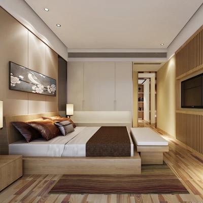 棕色卧室装修效果图精选 棕色调现代简约风格卧室
