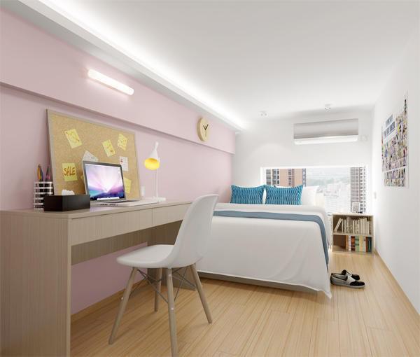 50㎡loft公寓四居室装修效果图