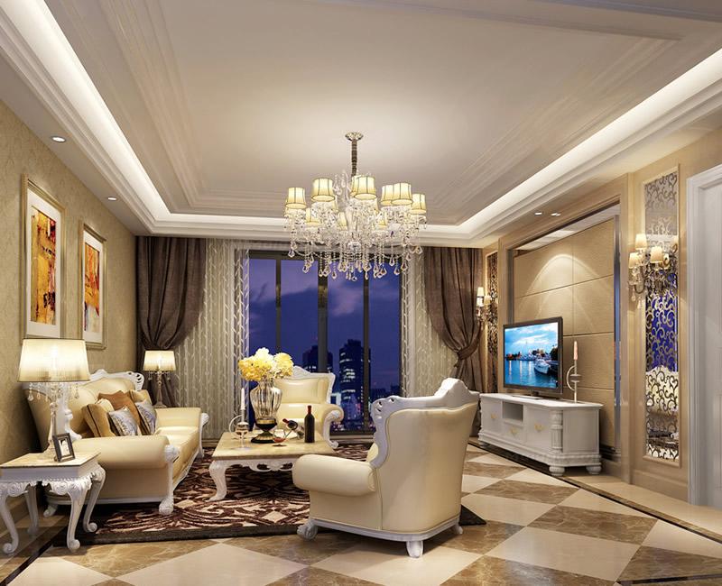 10-15万欧式客厅装修效果图精选