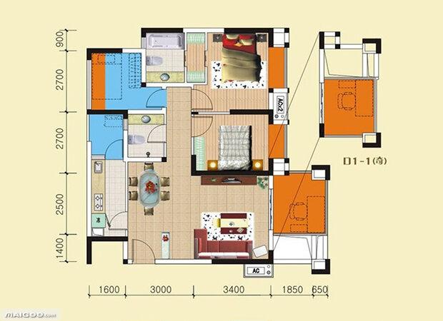自建房设计图大全 新农村自建房完美户型图