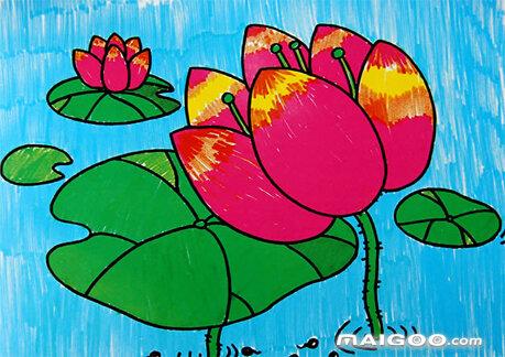 水彩笔画欣赏 儿童水彩笔画作品欣赏