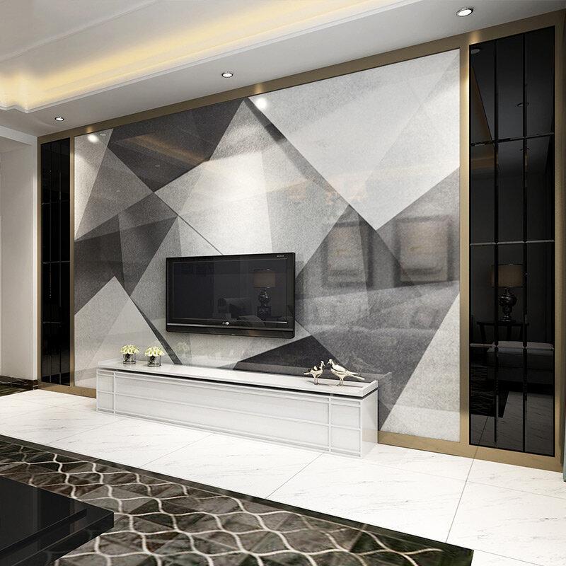 【瓷砖背景墙】客厅瓷砖电视背景墙装修效果图欣赏2018图片