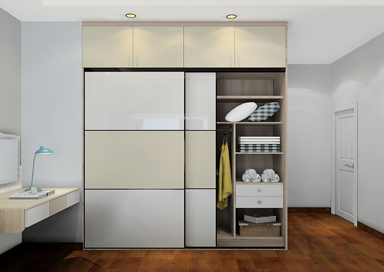 现代简约风格定制整体衣柜家装设计图(5/16)图片