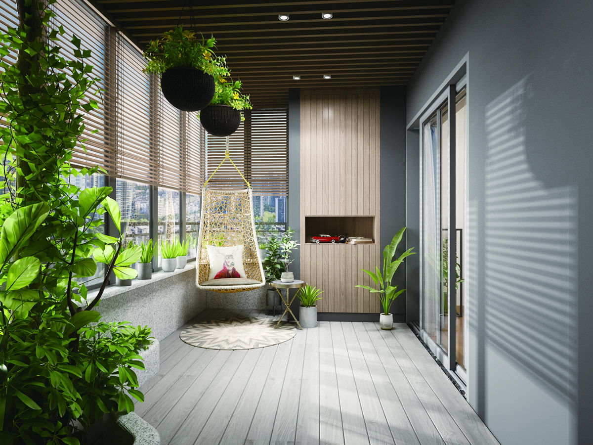 现代风格卧室阳台装修设计图片欣赏(4/12)图片